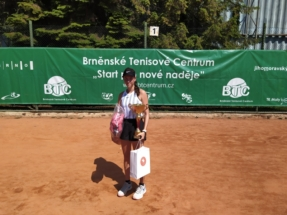 Vítězka dvouhry Šalková Dominika